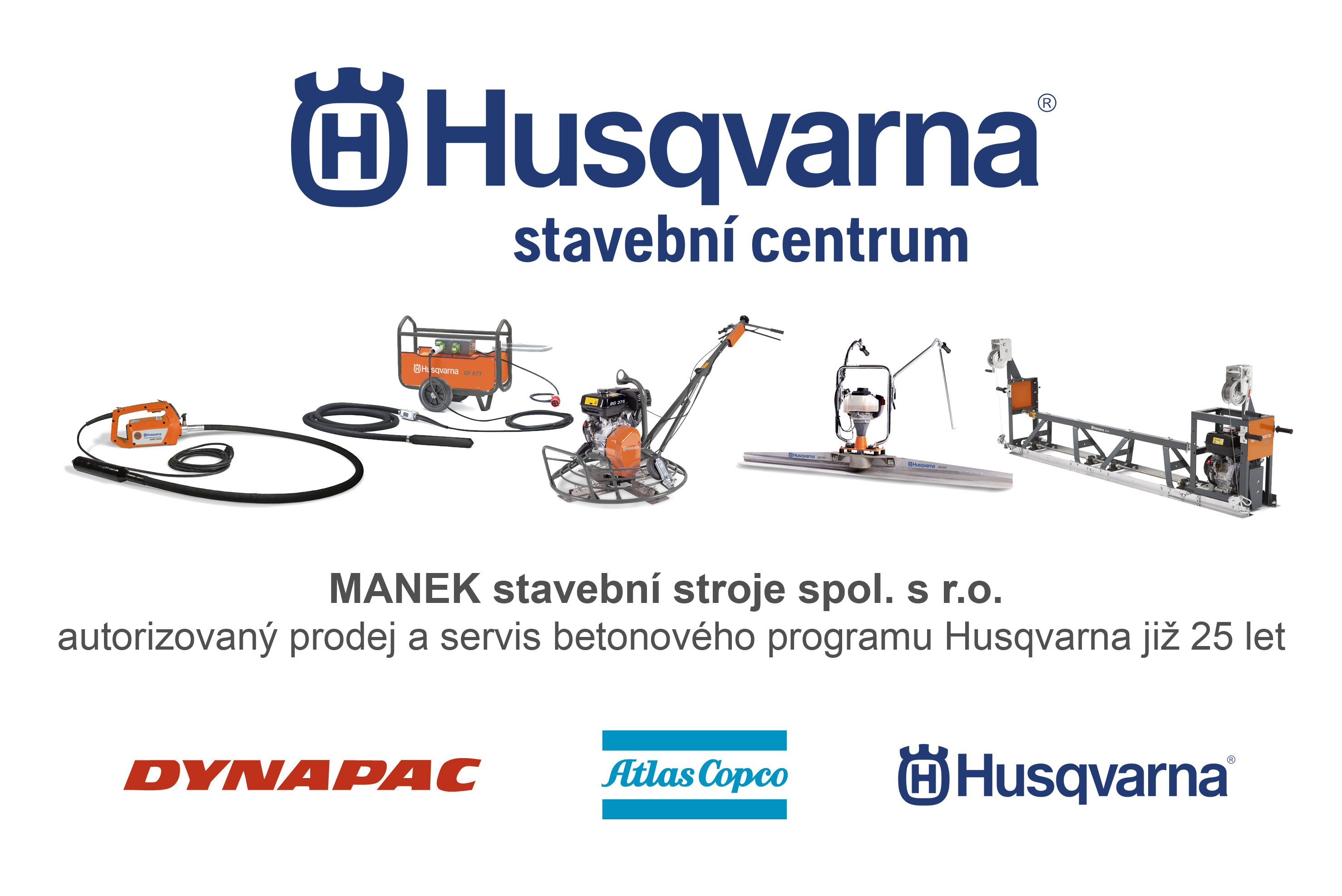 Ponorné vibrátory Husqvarna / Atlas Copco / Dynapac