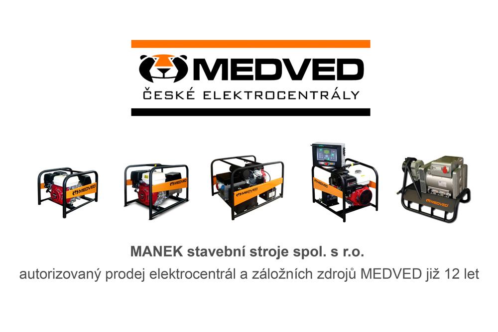 Prodej a servis elekrocentrál MEDVED