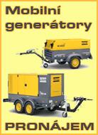 mobilni generatory pronajem
