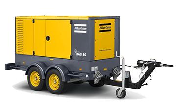 mobilní generátor Atlas Copco QES 80 pronájem