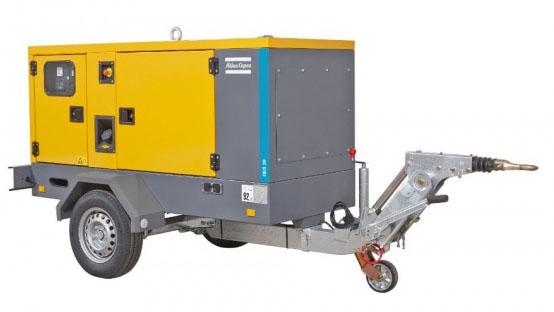 mobilni generátor Atlas Copco QES 40 pronájem